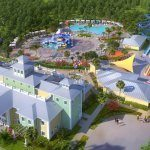 Another View of Clubhouse and Pool with Waterpark