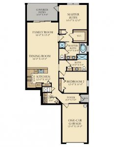 August - 2 Bedrooms - 1st Floor - Floor Plan