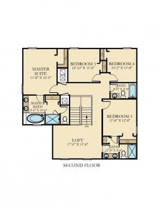 Bali - 5 Bedrooms - 2nd Floor - Floor Plan