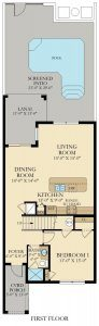Beach Palm - 4 Bedrooms - 1st Floor - Floor Plan