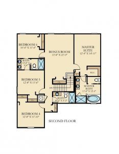 Cayman - 6 Bedrooms - 2nd Floor - Floor Plan
