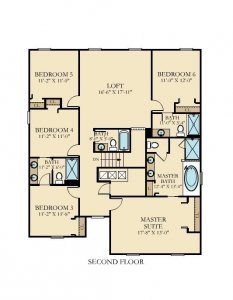 Fiji - 6 Bedrooms - 2nd Floor - Floor Plan