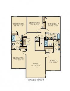 Luau - 7 Bedrooms - 2nd Floor - Floor Plan