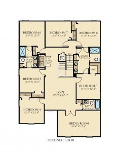 Maui - 8 Bedrooms - 2nd Floor - Floor Plan