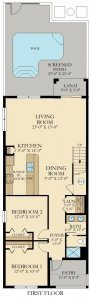Royale Palm - 5 Bedrooms - 1st Floor - Floor Plan