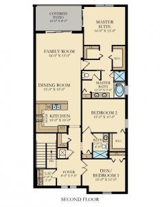 Turnberry - 3 Bedrooms - 2nd Floor - Floor Plan